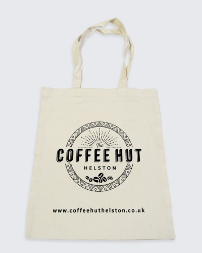 5oz Cotton Tote Bags with Printed Design Example