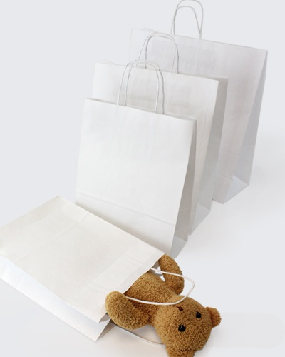 Bleached White Kraft Carrier Bags